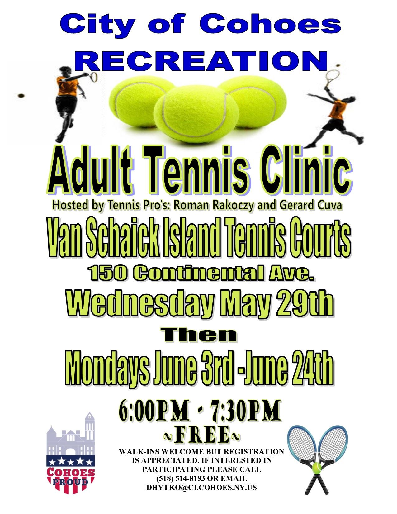 Adult Tennis Clinic