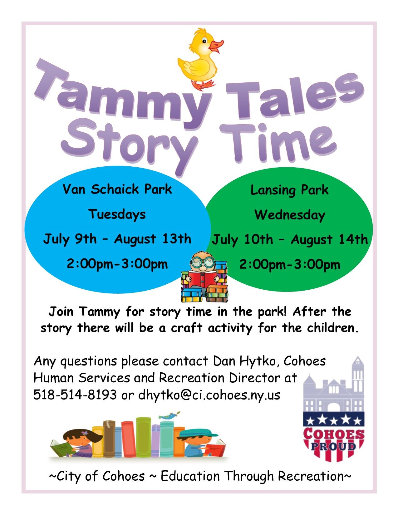 Tammy Tales Story Time Flyer