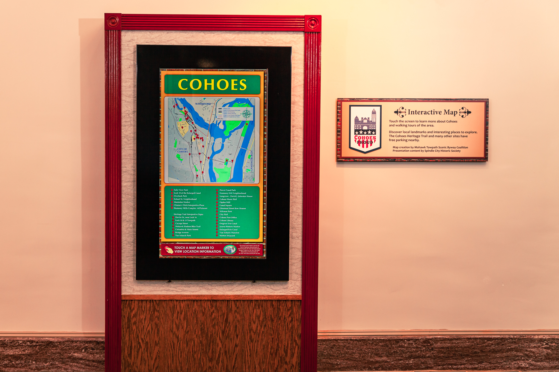 Cohoes Vistor Center Interactive Map
