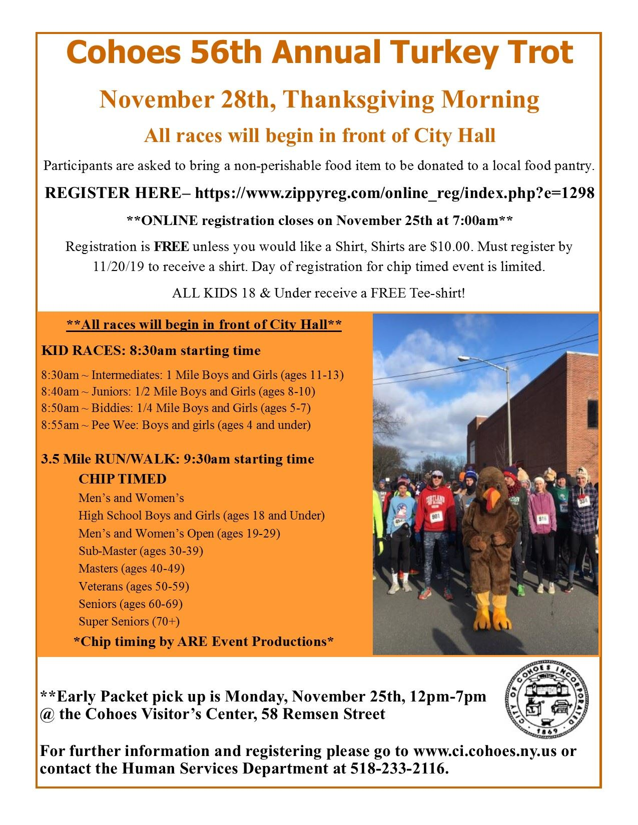 2019 Turkey Trot flyer