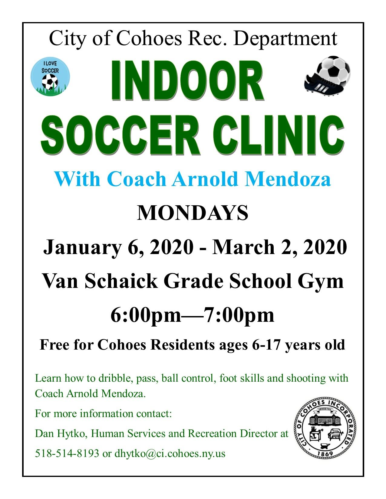 indoor soccer clinic jan 2020