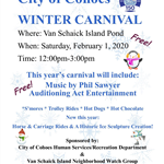 2020 Winter Carnival flyer