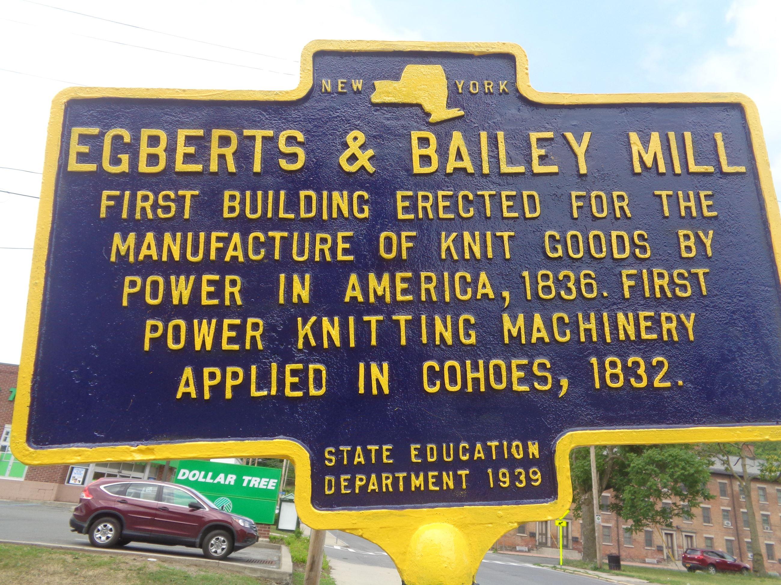 Marker No. 66 Egbert Bailey Mill
