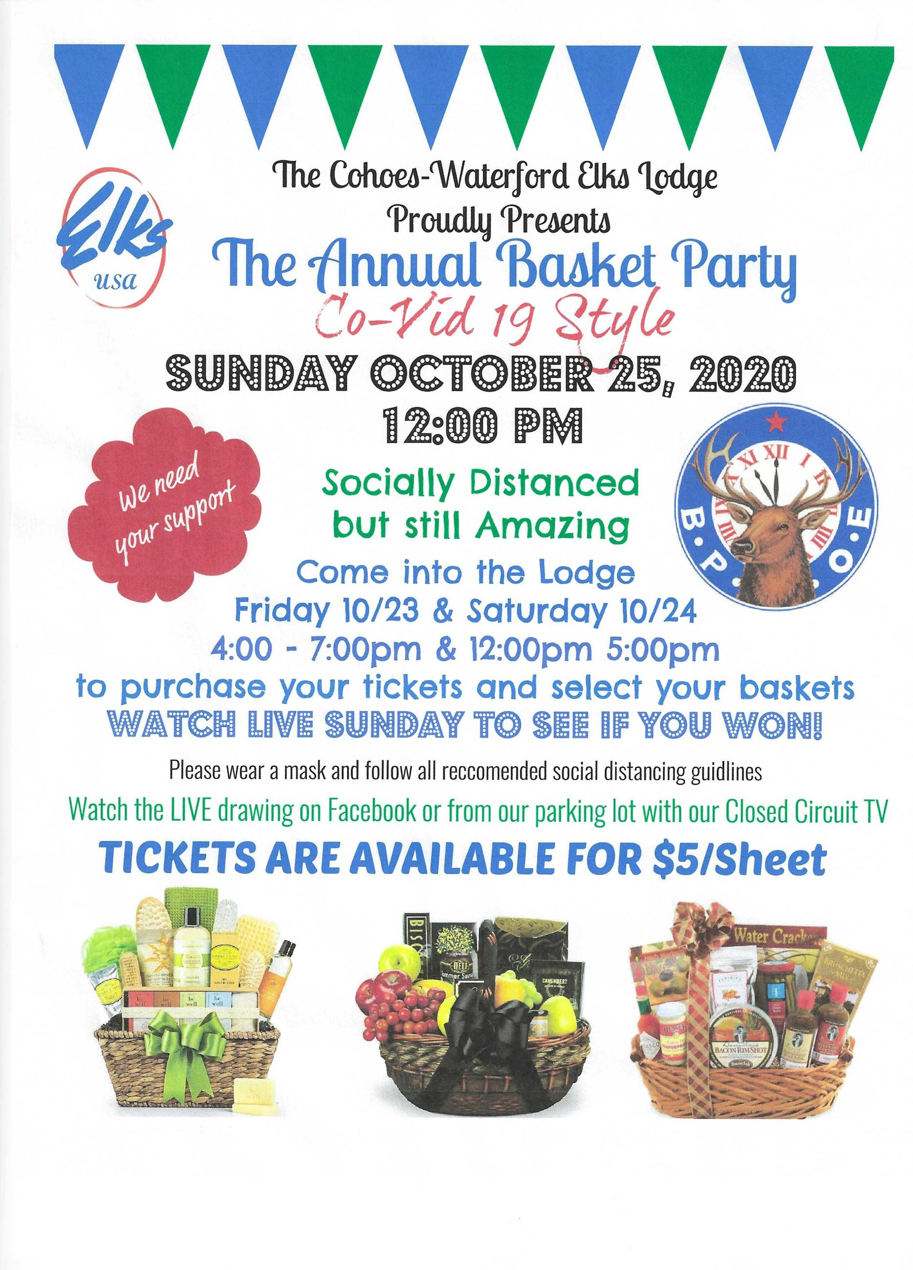Basket Party Flyer 2020
