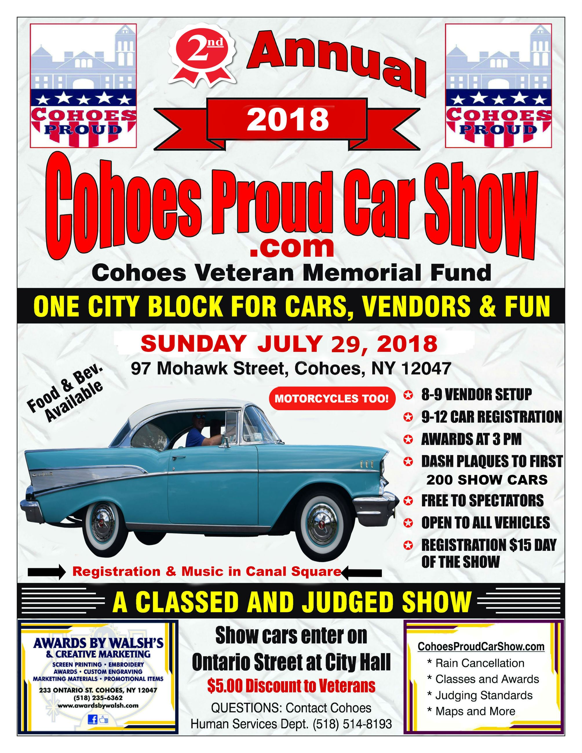 Cohoes Proud Car Show 2018