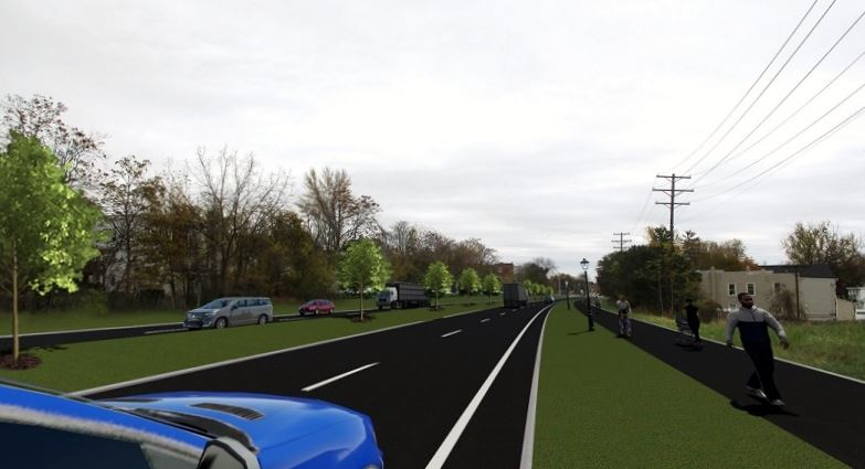 Cohoes Boulevard Rendering Mainline Proposed