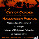 Halloweeen Parade flyer 2018