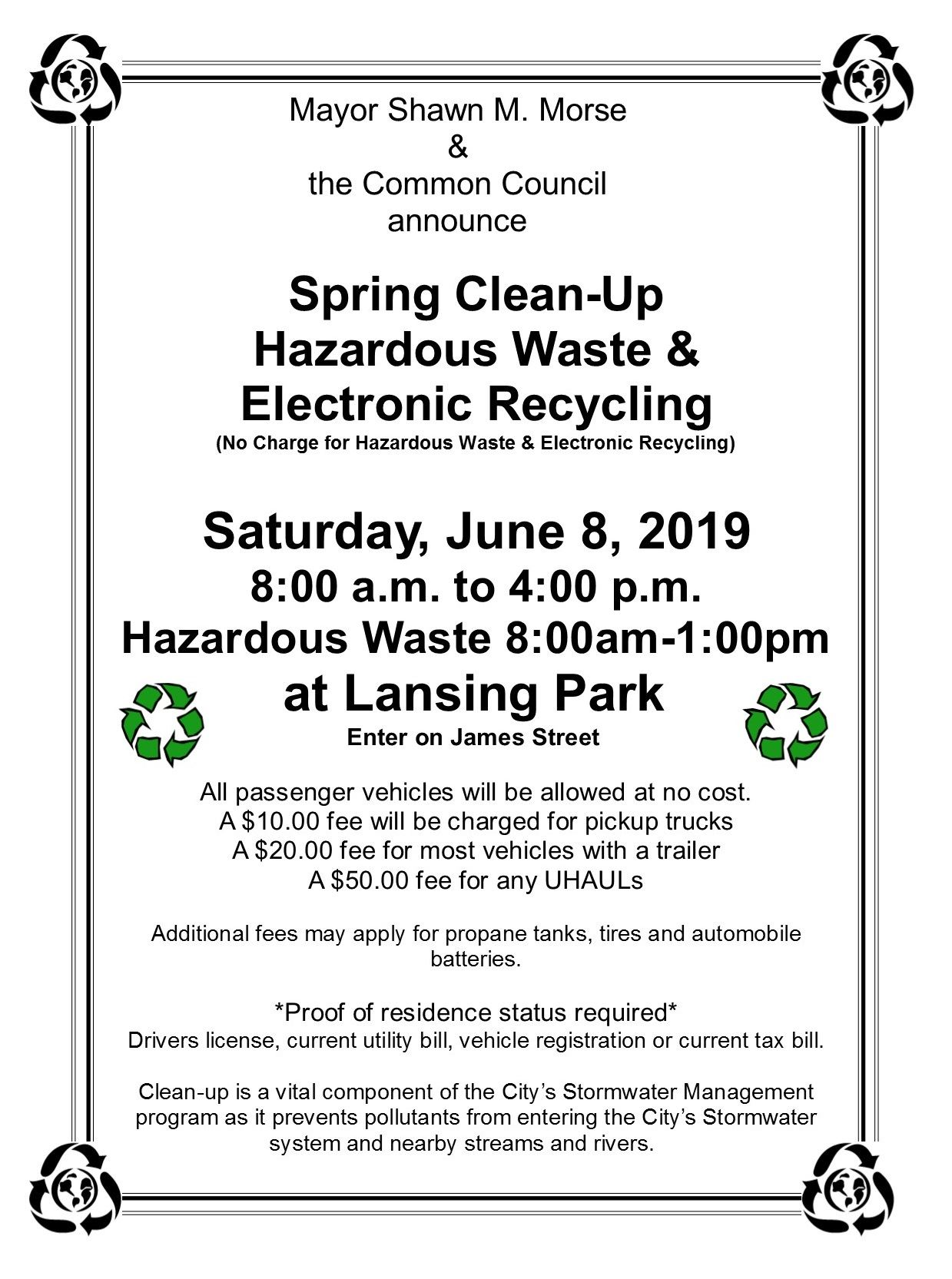 Spring cleanup day Flyer 2019 page 1