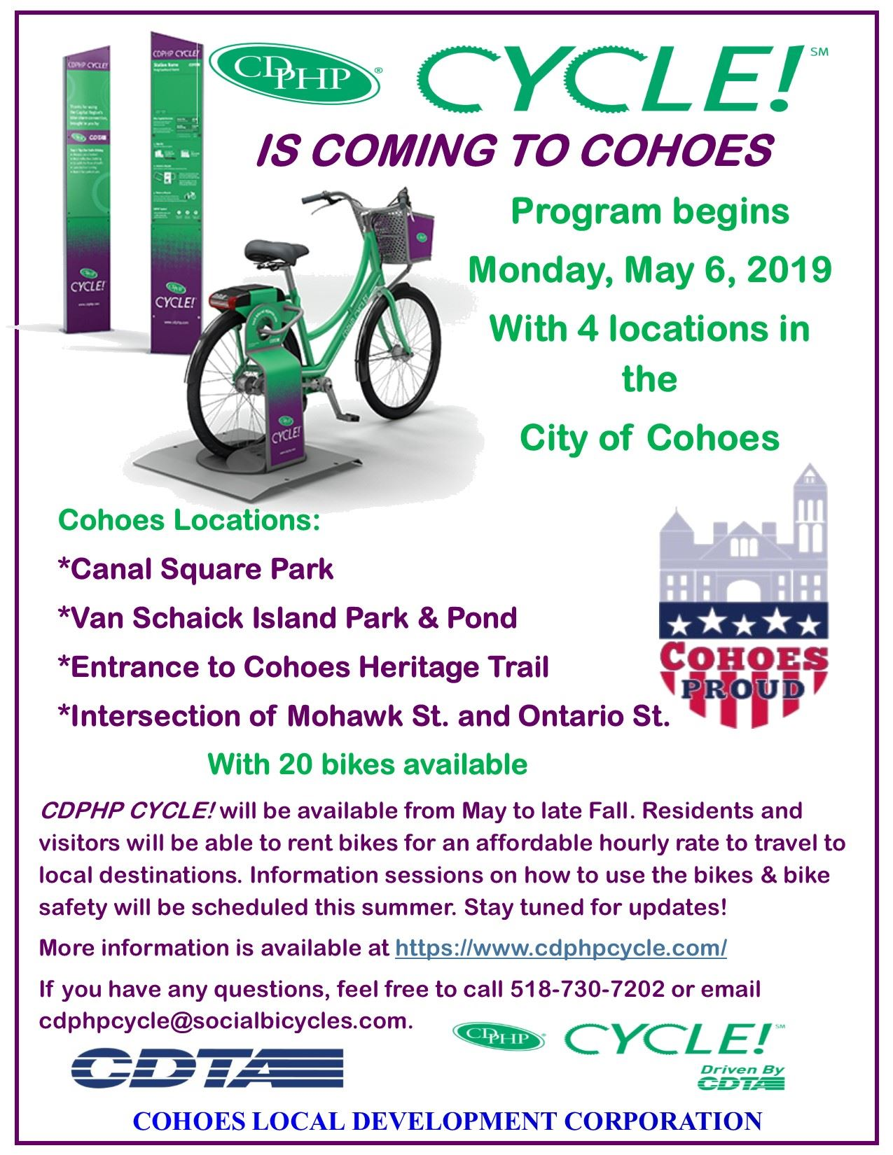 CDPHP Cycle flyer