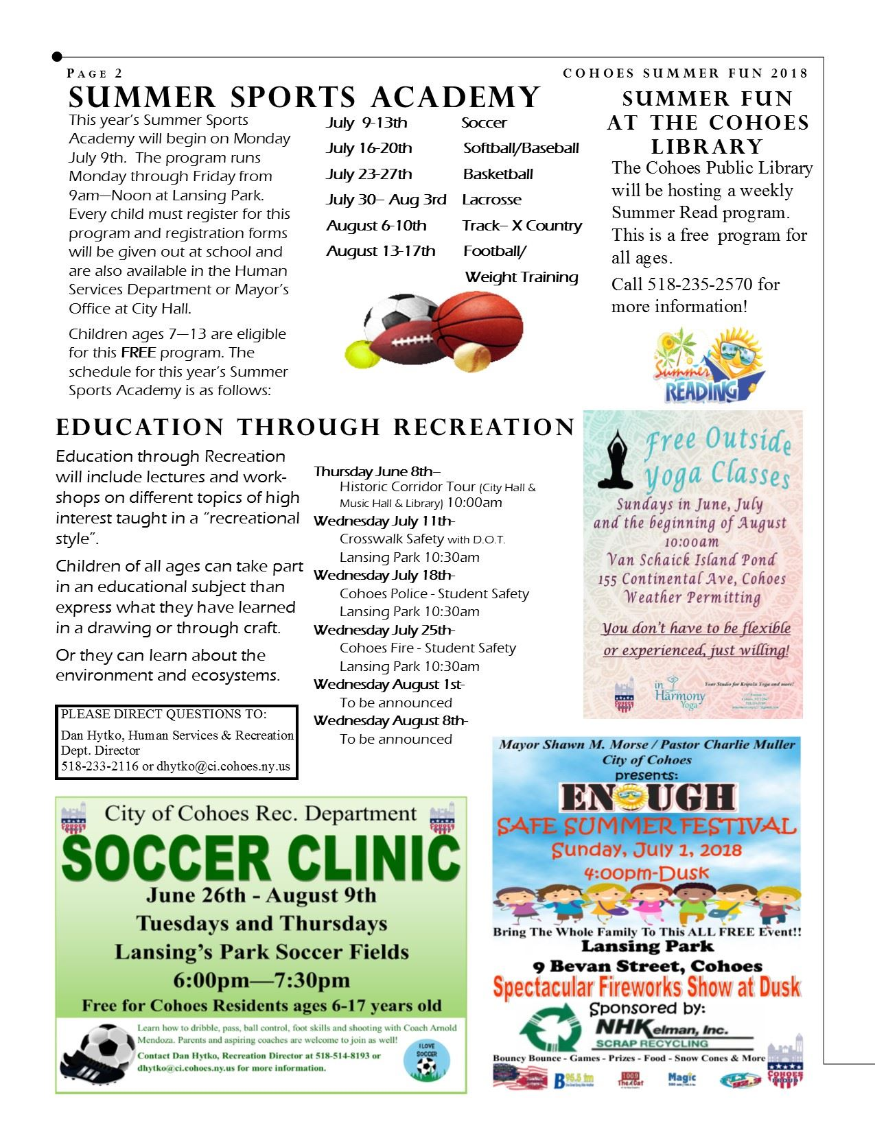 Summer Newsletter 2018 page 2